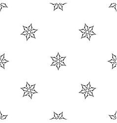 ninja shuriken star weapon pattern seamless black vector image