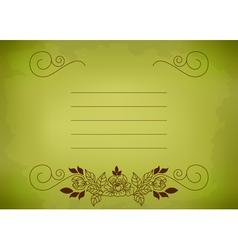 postcard green vector image vector image