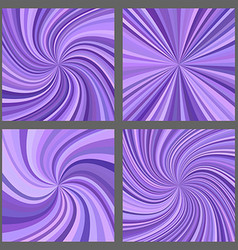 Purple spiral and ray burst background set vector