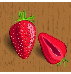 Realistic strawberry vector image vector image