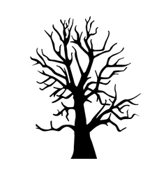 Silhouette old dry wood vector image