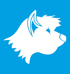 Terrier dog icon white vector