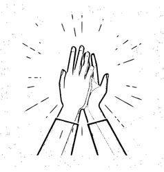 Two hands giving a high five vector