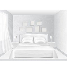 white bedroom vector image vector image