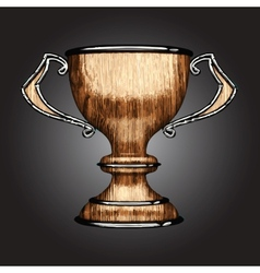 wooden award vector image