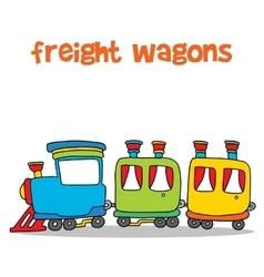 Cartoon of transportation freight wagons vector