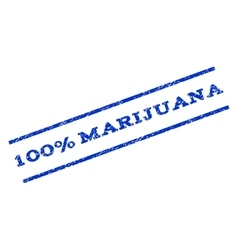 100 percent marijuana watermark stamp vector