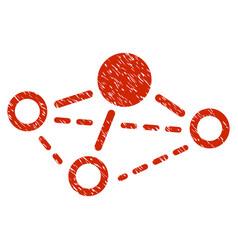 molecule grunge icon vector image