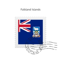 Falkland islands flag postage stamp vector