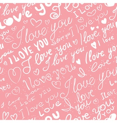 love seamless vector image