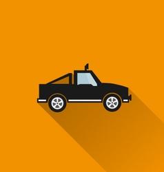 Car icon 4 long shadow vector