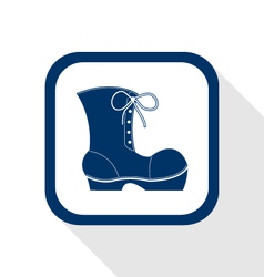 Work boots flat icon vector