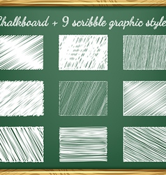 Chalk graphic styles vector