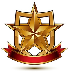 3d classic royal symbol sophisticated protection vector