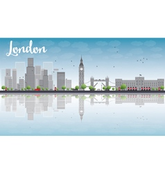 London skyline with skyscrapers vector