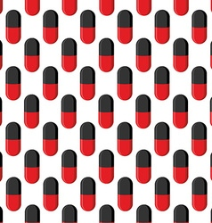 Capsule medical seamless pattern pills background vector
