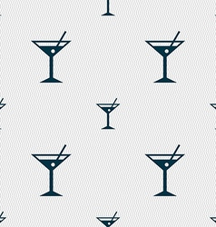 Cocktail martini alcohol drink icon sign seamless vector