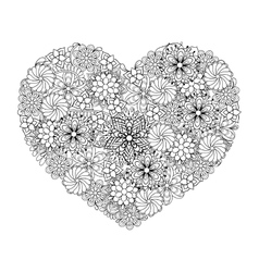 Hand drawn patterned big heart vector