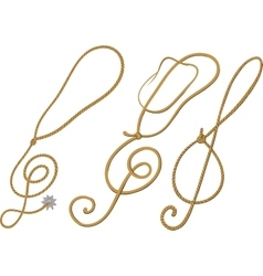 Cowboy treble clef vector