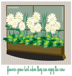 Flowers with a view vector