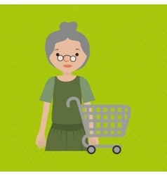Grandmother shopping design vector
