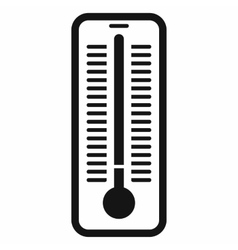 Outdoor thermometer icon black simple style vector