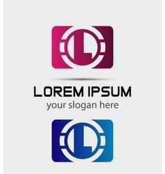 graphic elegant font symbol alphabet Letter vector image