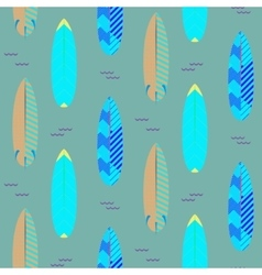 Surfboard seamless pattern Blue and cyan vector image