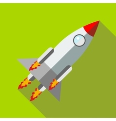 Rocket launch icon in flat style icon flat style vector