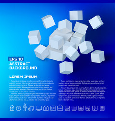abstract business geometric poster vector image