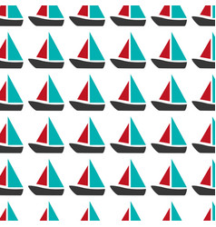 Colorful pattern with sailing boats vector