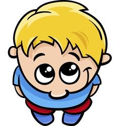 cute little boy cartoon vector image vector image