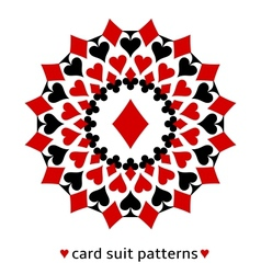 Diamond card suit snowflake vector