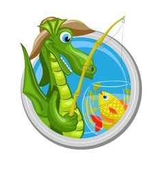 Dragon Pisces zodiac sign vector image