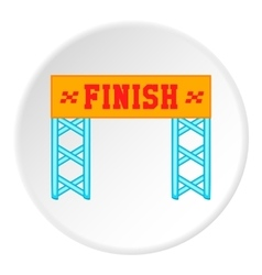 Finish line icon cartoon style vector image