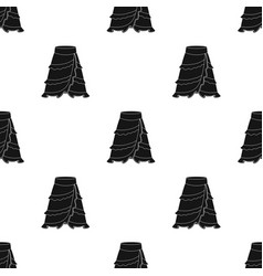 Flamenco skirt icon in black style isolated on vector