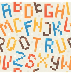 font pattern vector image vector image