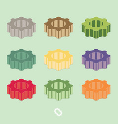 gear icon set flat vector image