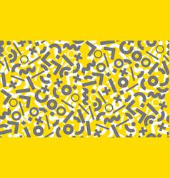 Geometric gold and black motif vector
