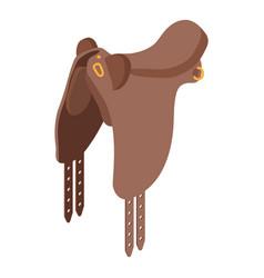 horse saddle icon isometric style vector image