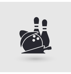 Icon bowling Checking room bowling club vector image