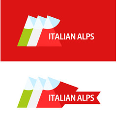 logo of italian alps vector image