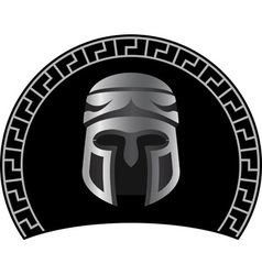 medieval helmet vector image vector image