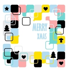 Merry christmas geometric abstract background vector