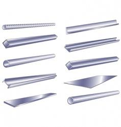 metal pipe vector image