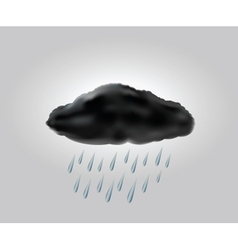 raincloud with raindrops in the dark sky vector image