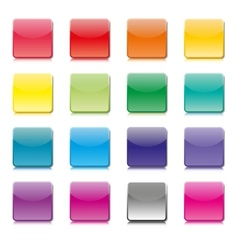 Set of templates of color icons vector image vector image
