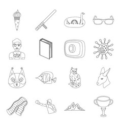 Sport security animal and other web icon in vector