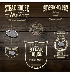 Steak house badges logos and labels for any use vector image