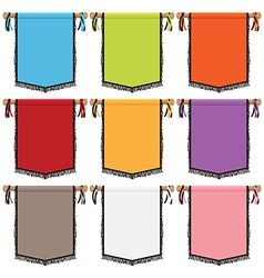 Wall hanging banners vector